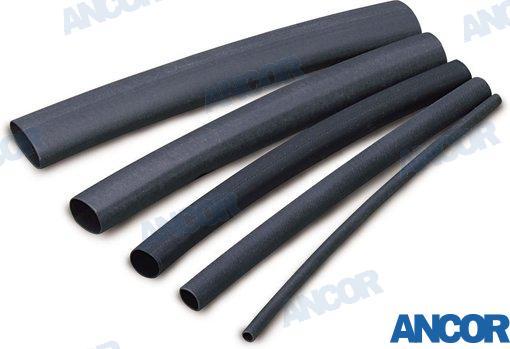 SCHRUMPFSCHLAUCH-ROLLE SCHWARZ (3,2 - 0,8MM2), Länge: 122cm