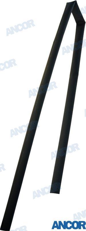 SCHRUMPFSCHLAUCH-ROLLE SCHWARZ (19 - 6,4mm2), Länge: 122cm